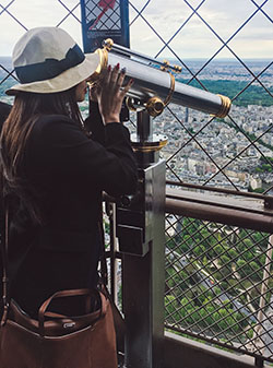 Sheena D Top of Eiffel Tower