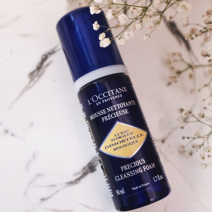 The Top Rated Face Wash From L'Occitane I'm Using This Summer: L'Occitane Immortelle Precious Cleansing Foam