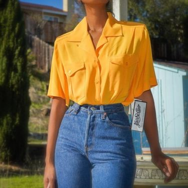 Vintage Golden Yellow T Shirt